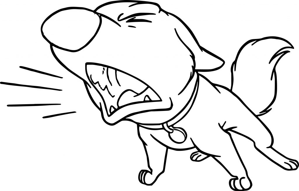 Bolt Barking Coloring Page