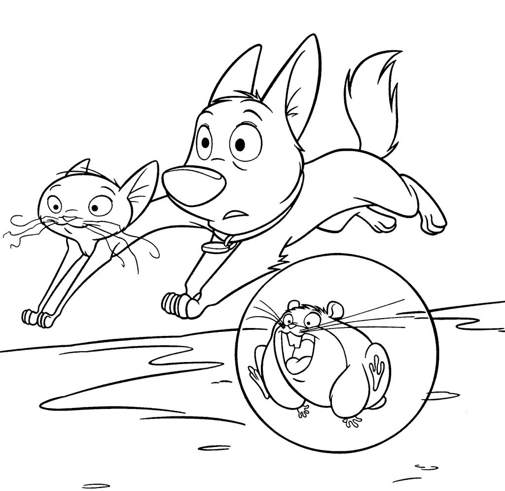 Bolt Movie Characters Coloring Pages