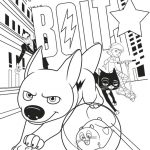 Bolt Movie Coloring Page