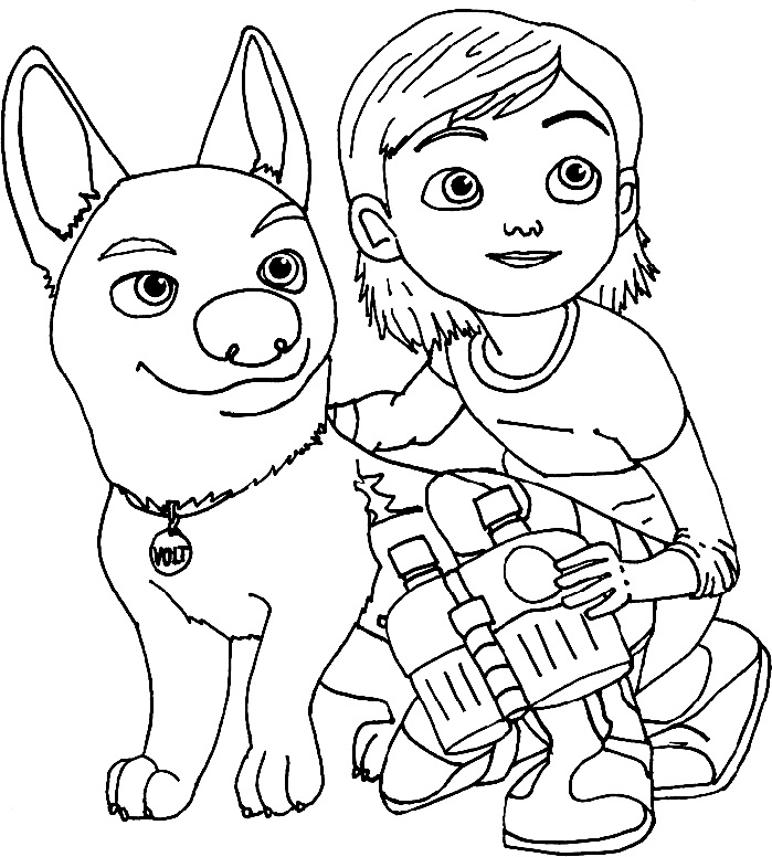 Bolt And Penny Coloring Page
