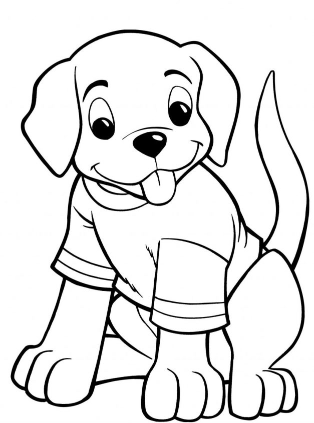 Cartoon Golden Retriever Coloring Pages