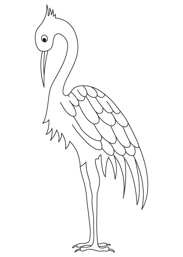 Crane Coloring Pages
