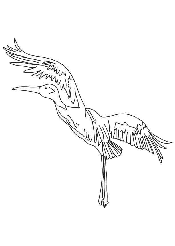 Crane In Flight Coloring Page