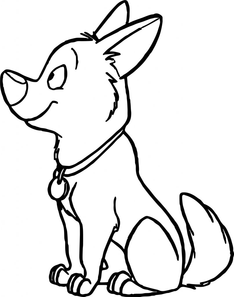 Cute Bolt Movie Coloring Pages