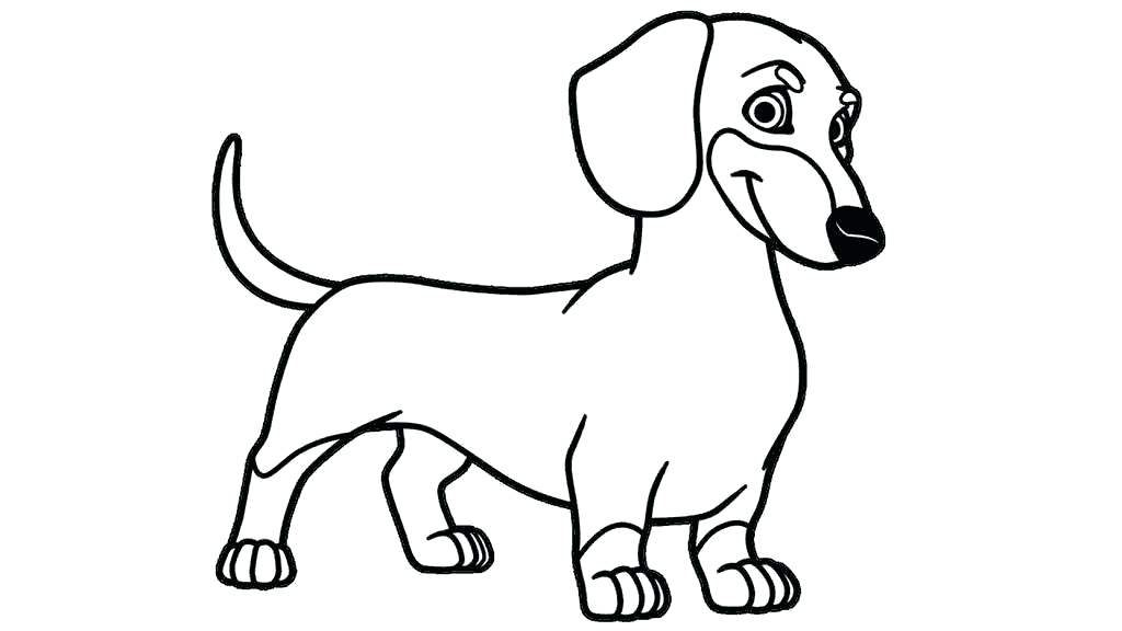 Cute Dachshund Coloring Pages