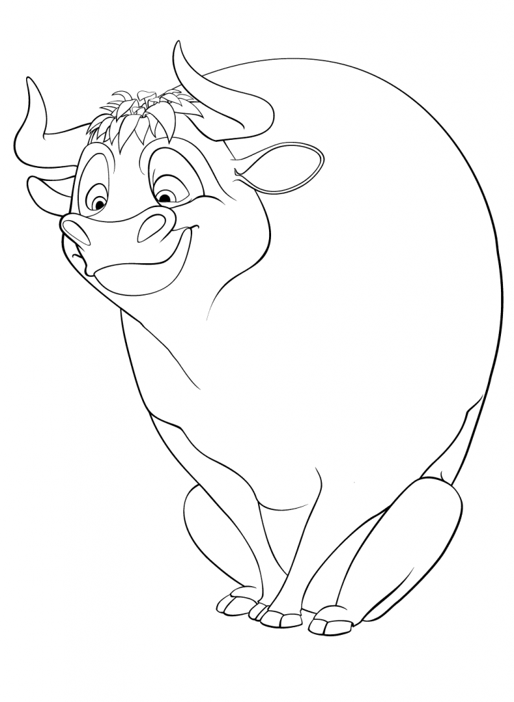 Cute Ferdinand Coloring Pages