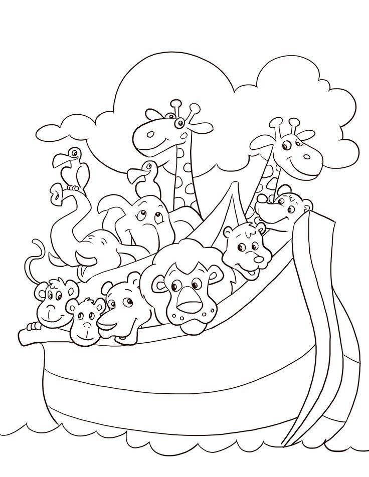 Cute Noahs Ark Coloring Pages