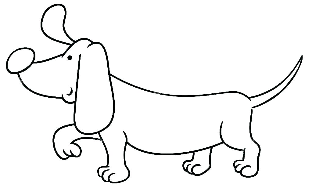 Easy Dachshund Coloring Pages