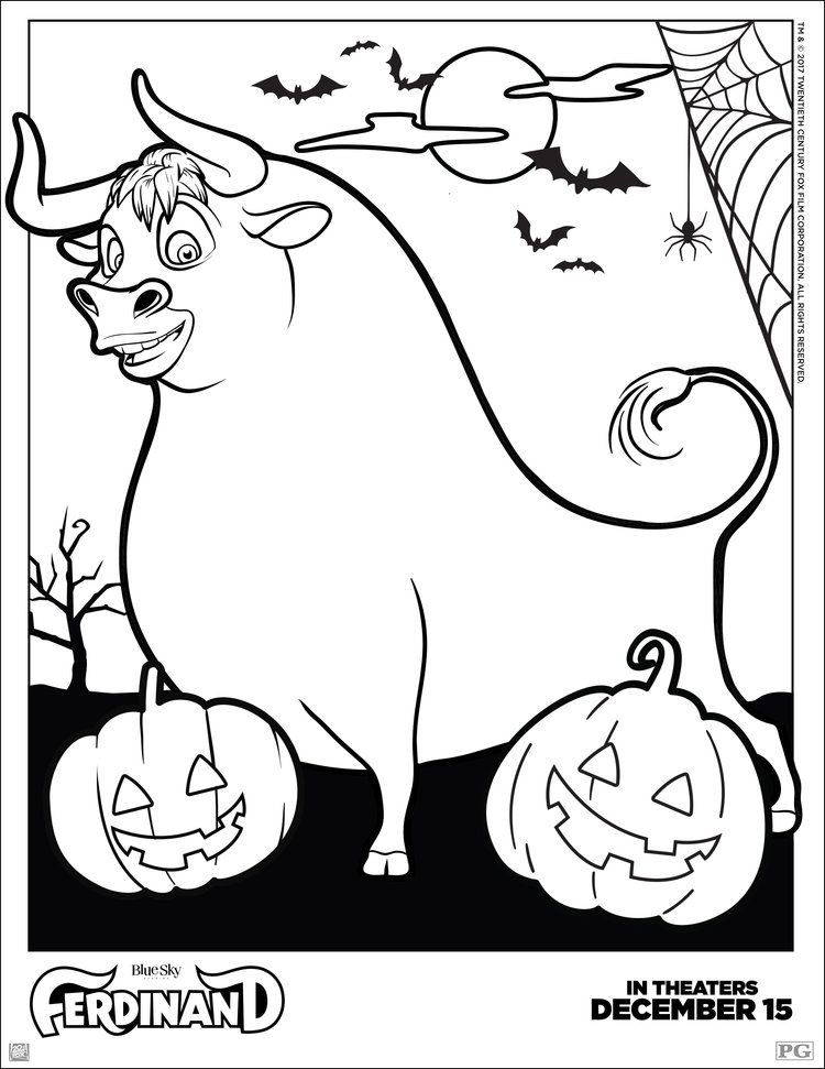 Ferdinand Halloween Coloring Pages