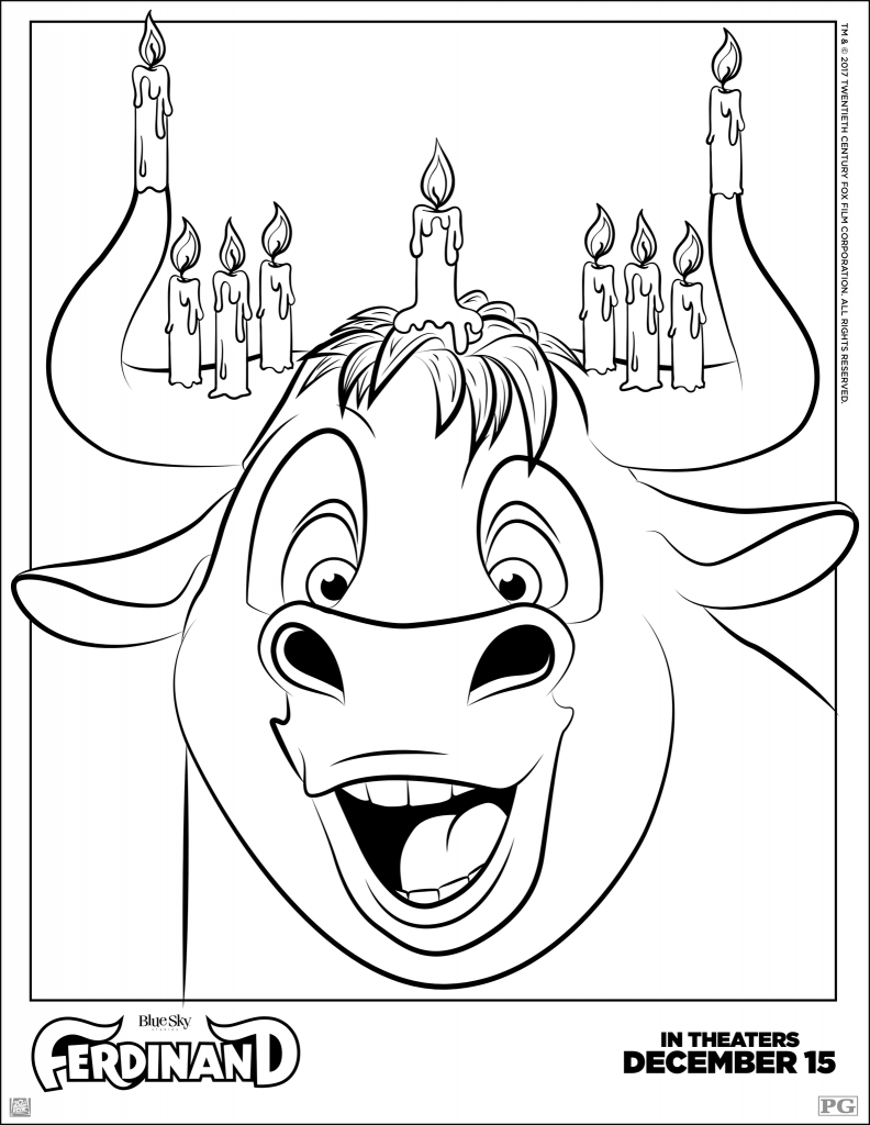 Ferdinand Hanukkah Coloring Pages
