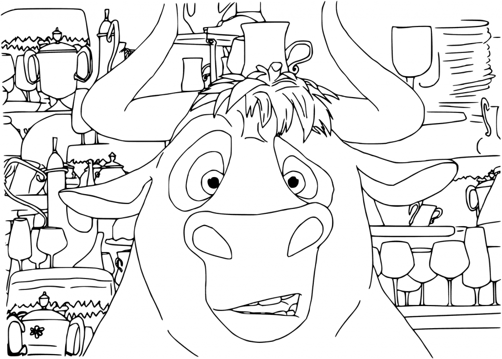 Ferdinand Movie Coloring Page