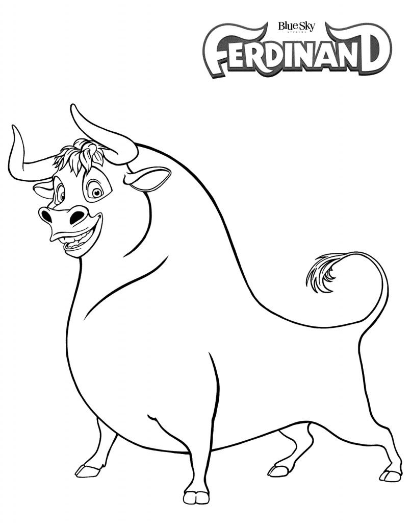 Ferdinand Movie Printable Coloring Pages