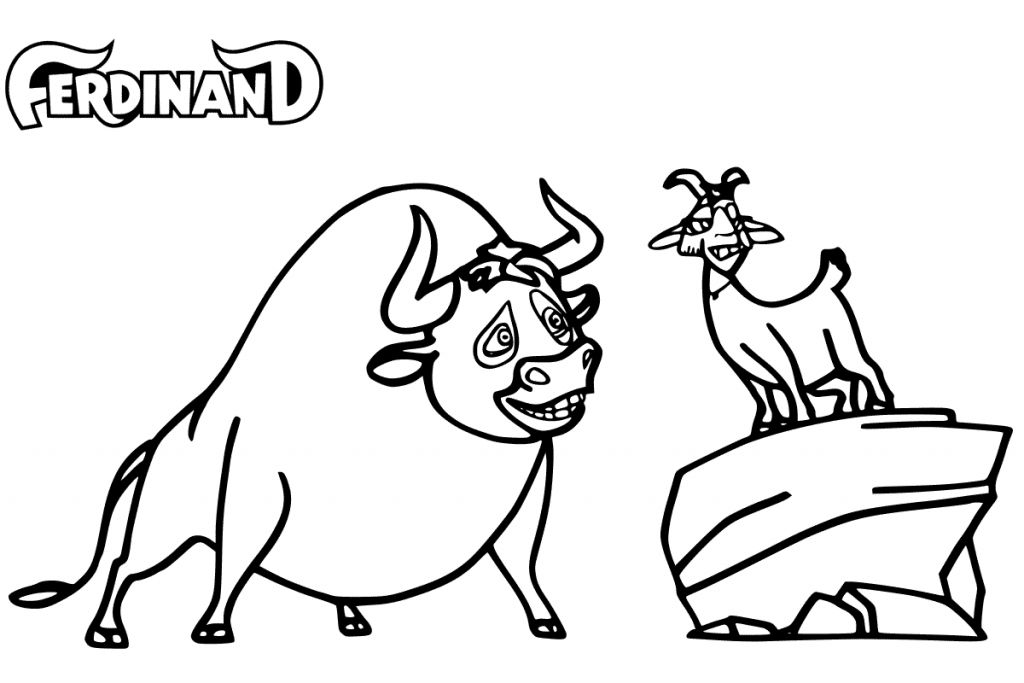 Ferdinand Printable Coloring Pages