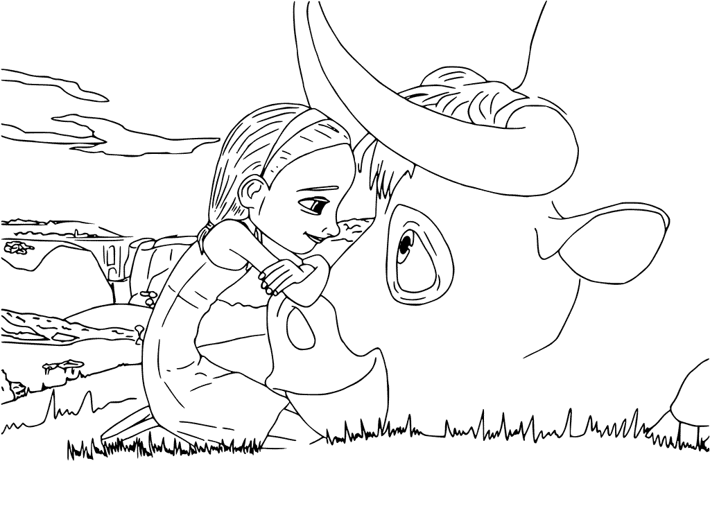 Ferdinand And Nina Coloring Page