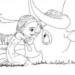 Ferdinand And Nina Coloring Page