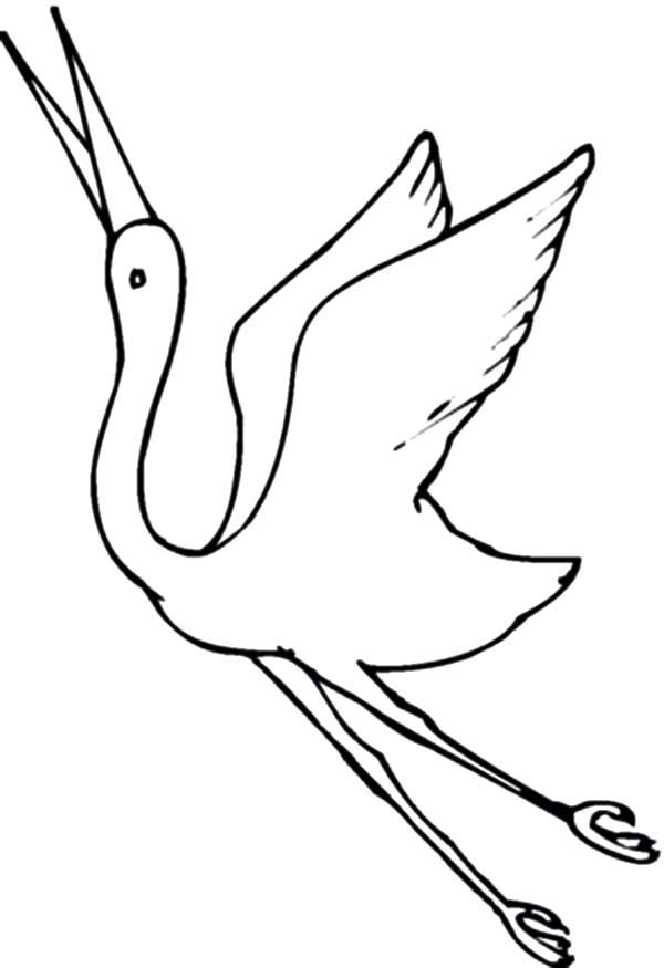 Flying Crane Coloring Page