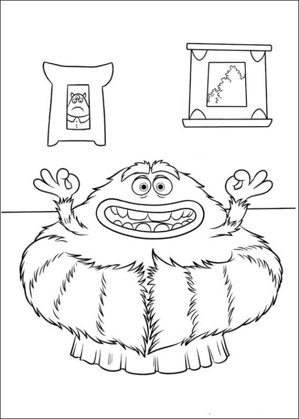 Funny Monsters University Coloring Pages
