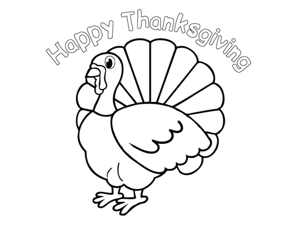 Happy Thanksgiving Turkey Coloring Pages For Preschool