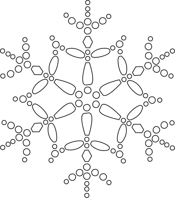 Holiday Snowflake Art Coloring Page
