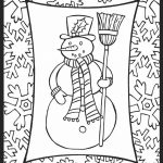 Holiday Snowman Coloring Pages