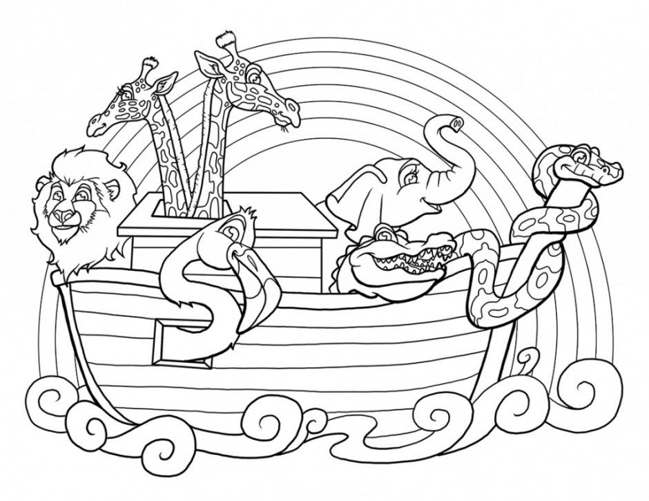 Noahs Ark Bible Story Coloring Pages