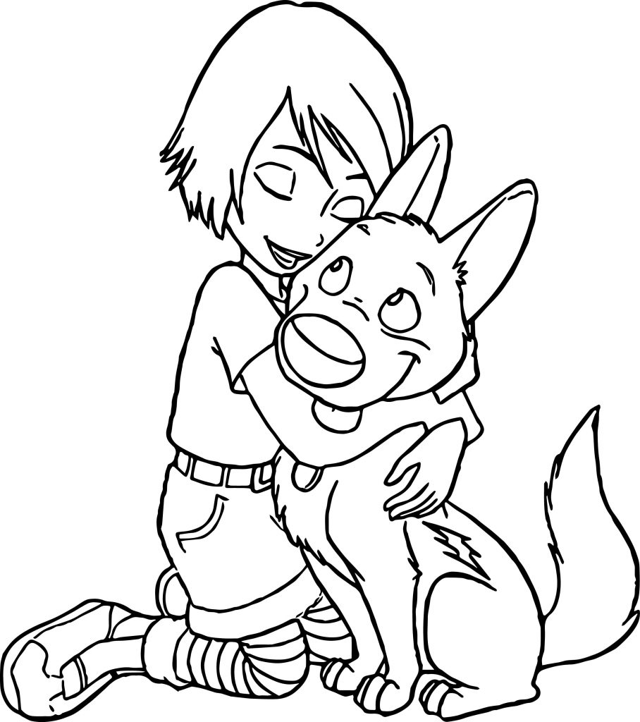 Penny And Bolt Coloring Page