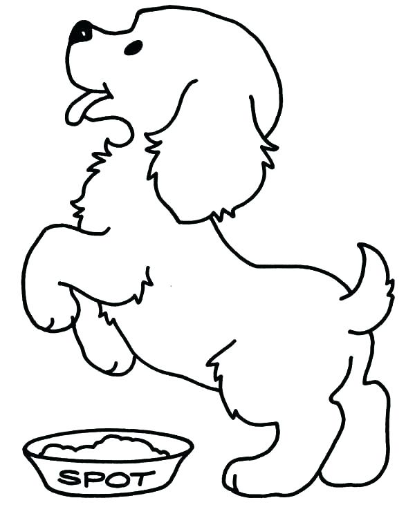 Printable Golden Retriever Coloring Pages Dog Color Of Pictures adult | 734x600