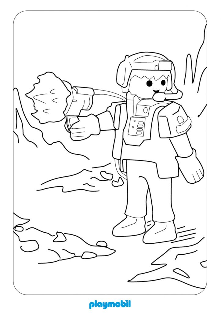 Playmobil Action Coloring Pages