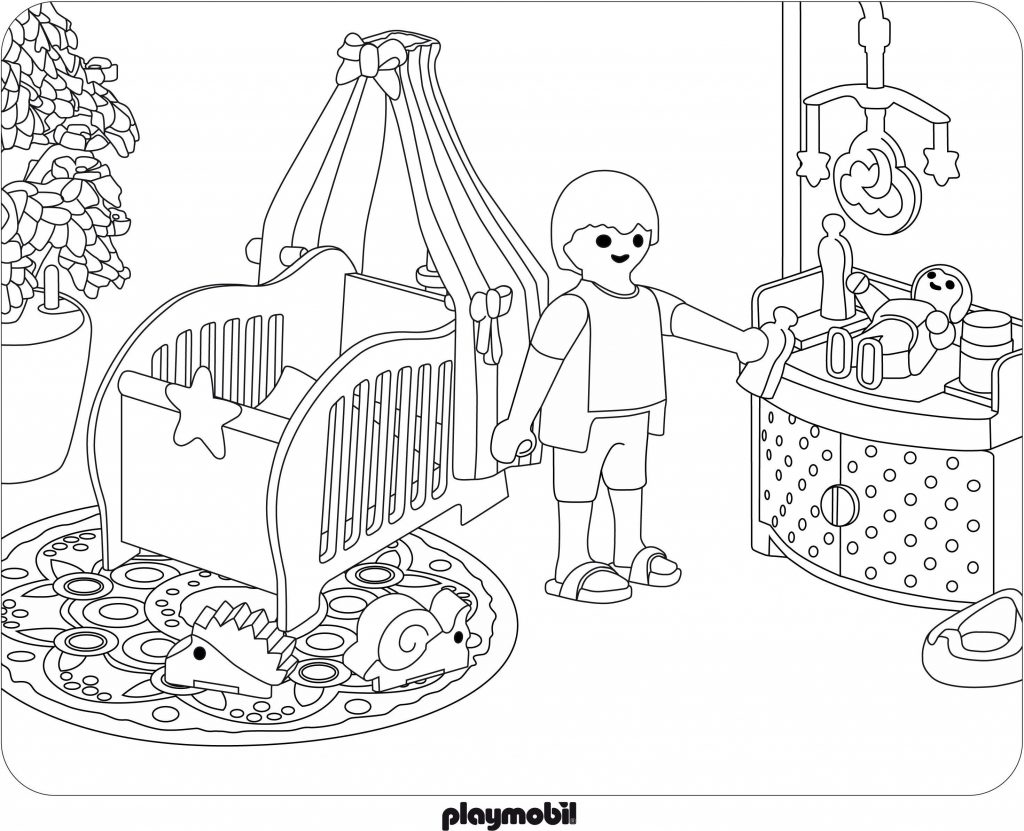Playmobil Baby Coloring Pages