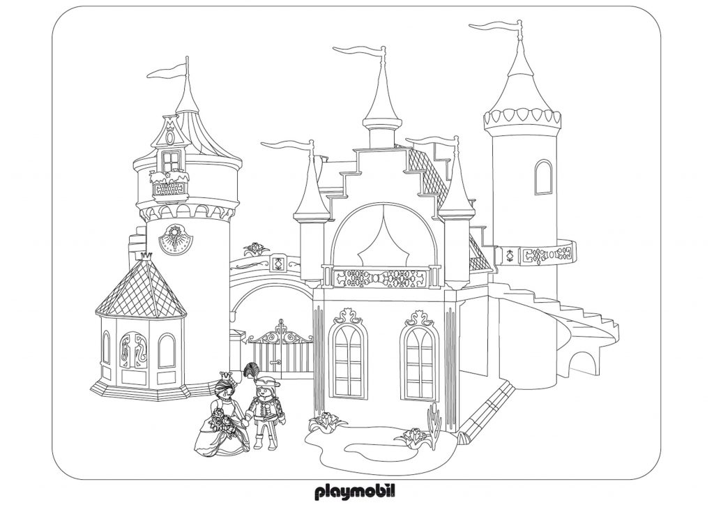 Playmobil Castle Coloring Pages
