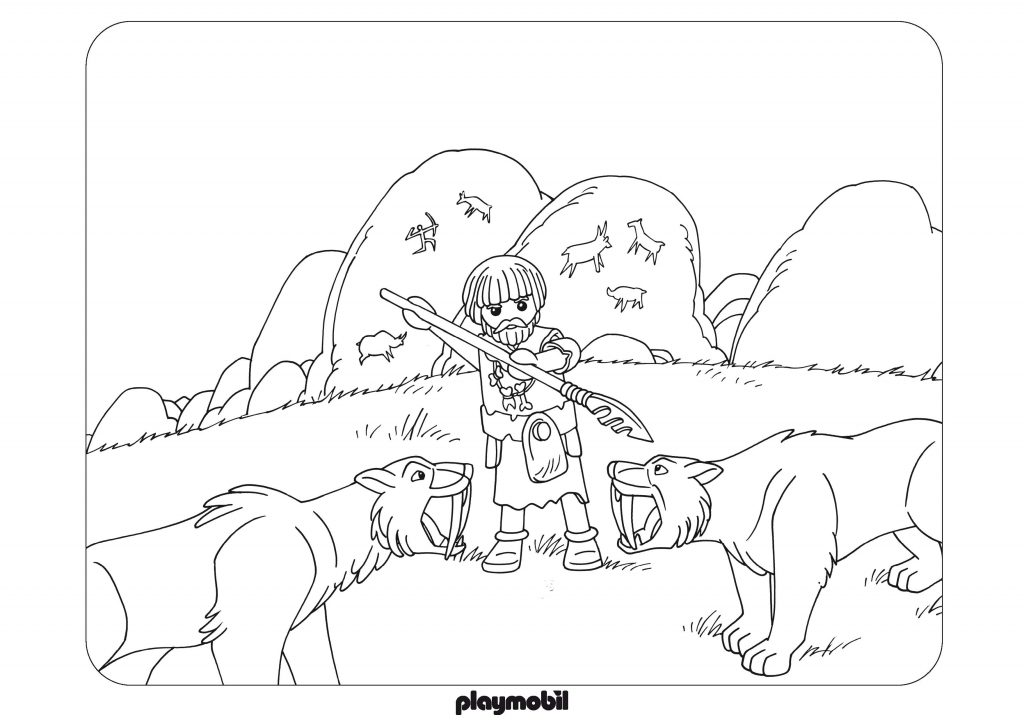Playmobil Caveman Coloring Pages