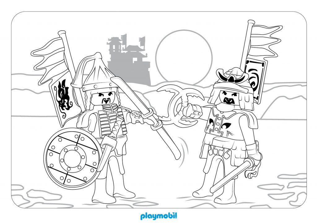 Playmobil Coloring Page
