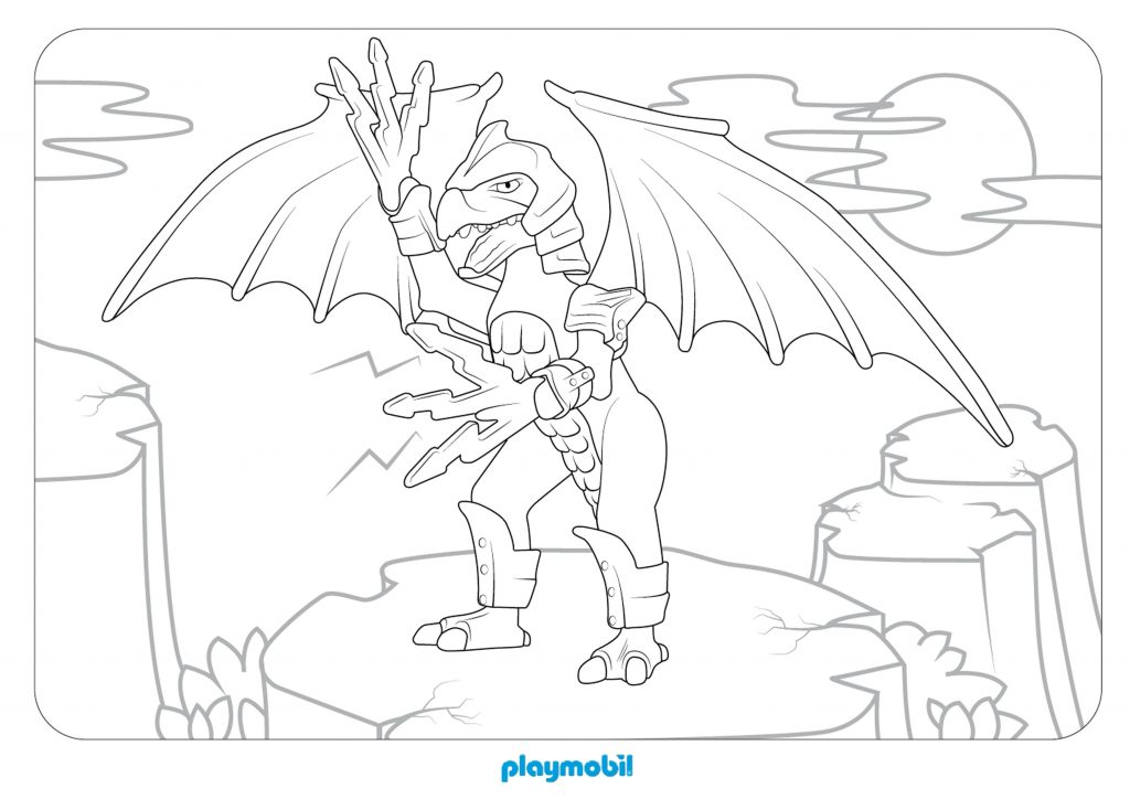 Playmobil Dragon Coloring Pages