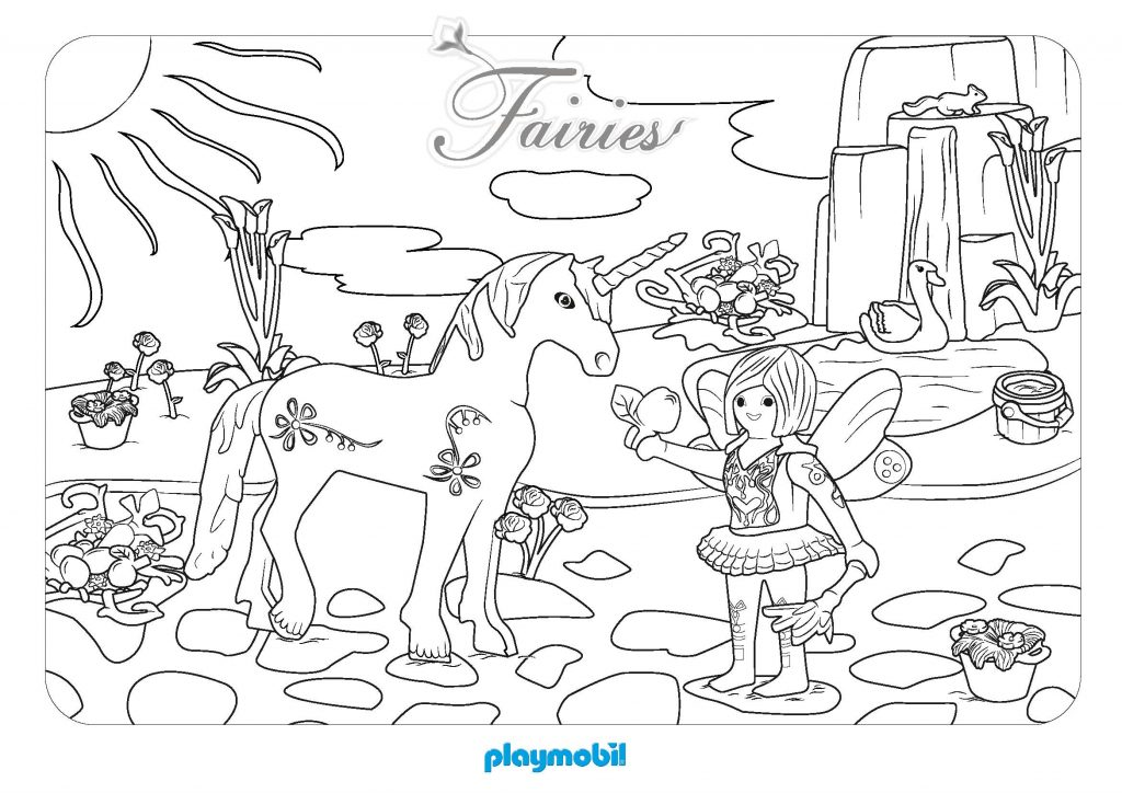 Playmobil Fairies Coloring Pages