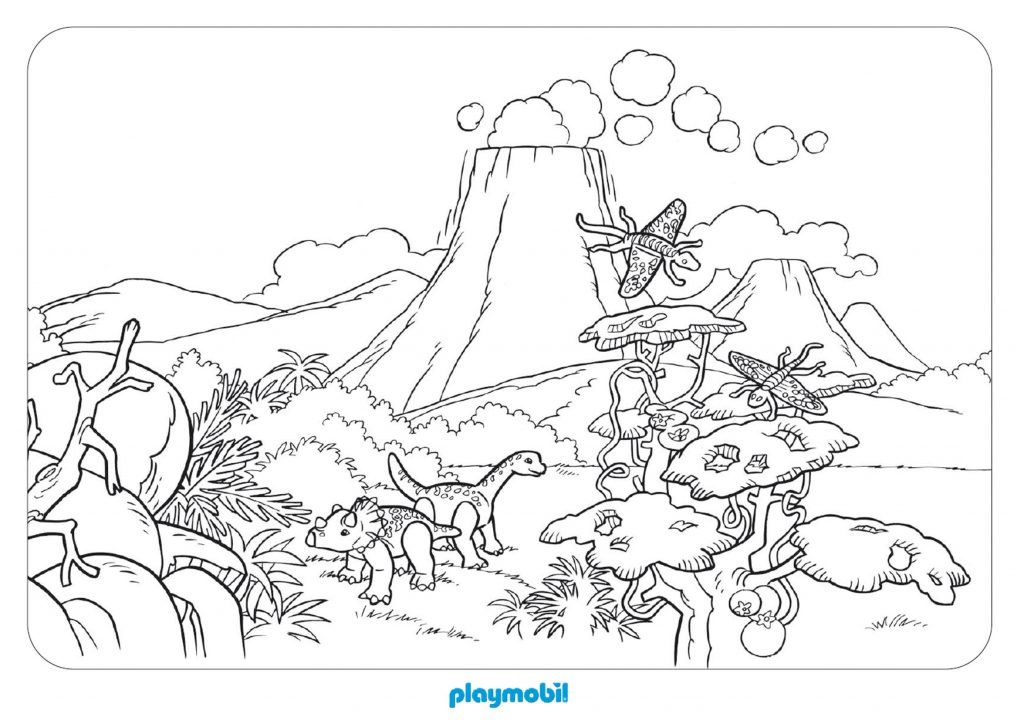 Playmobil Jurassic Scene Coloring Pages