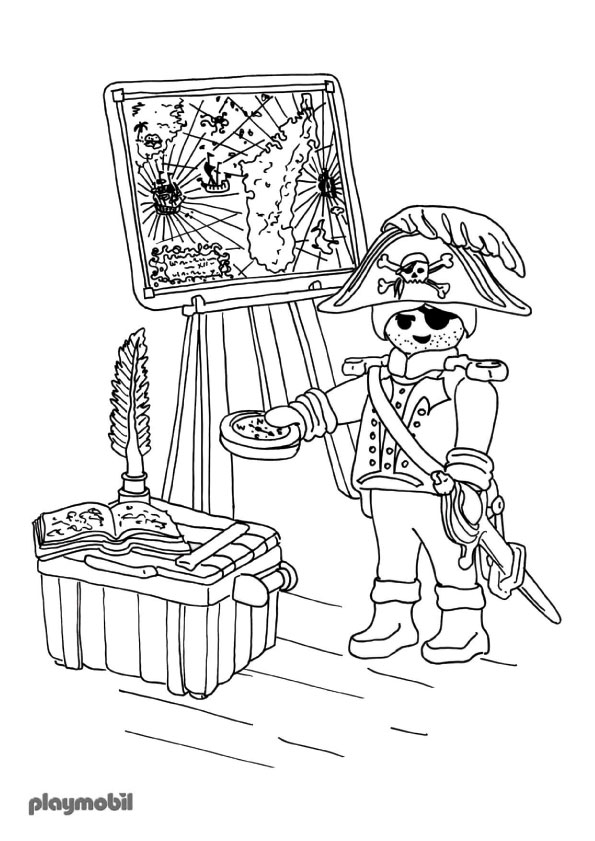 Playmobil Pirate Art Coloring Pages