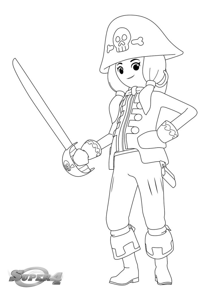 Playmobil Pirate Coloring Pages