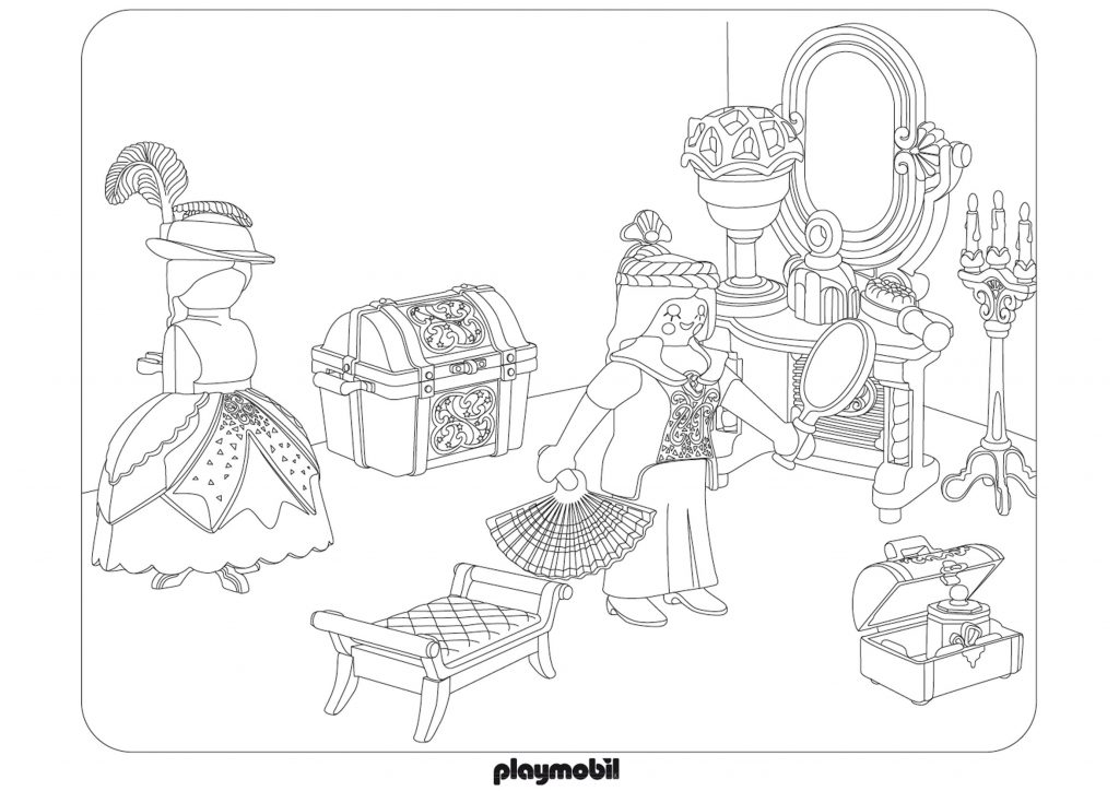 Playmobil Set Coloring Pages
