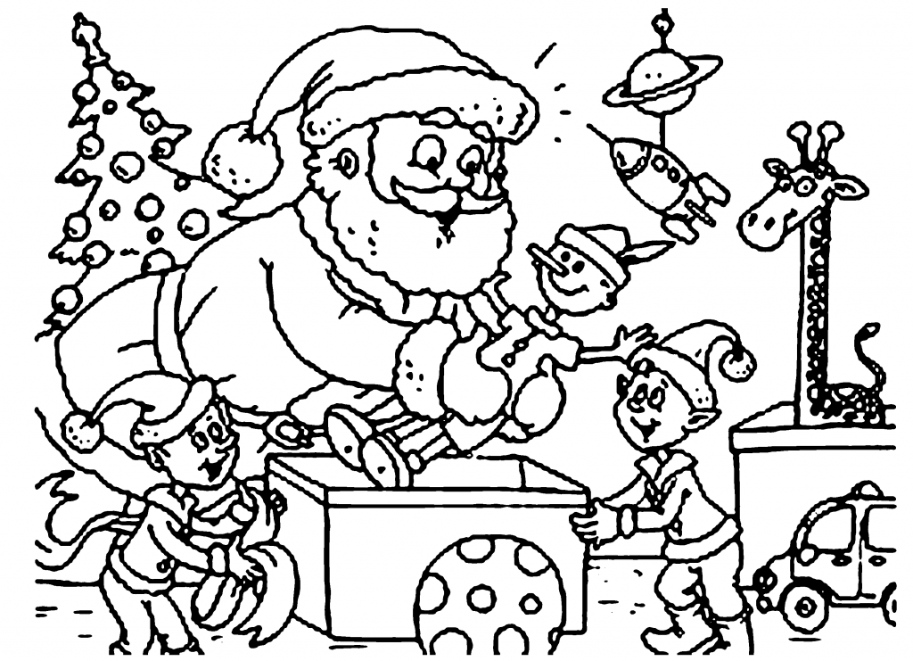 Santa Getting Ready For The Holidays Coloring Page