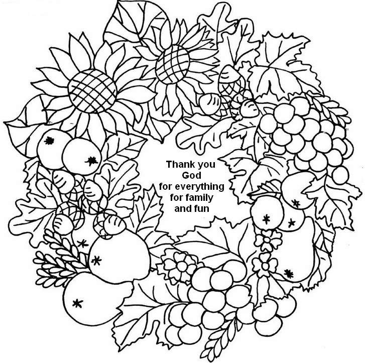 Thank You Wreath Coloring Page Or Adults