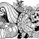 Thanksgiving Cornucopia Coloring Page For Adults