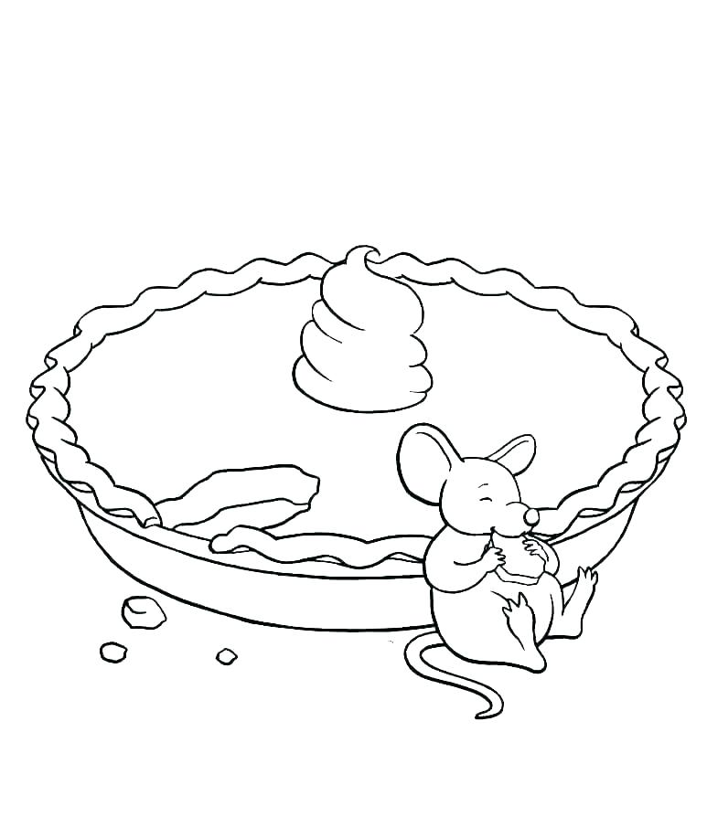 Thanksgiving Pie Coloring Pages For Preschool