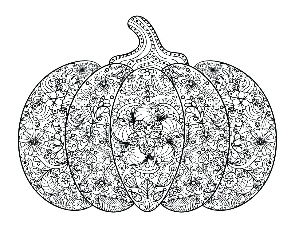 Thanksgiving Pumpkin Coloring Page For Adults