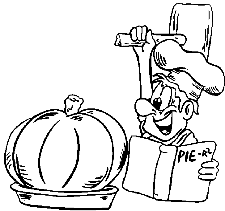 Thanksgiving Pumpkin Pie Coloring Pages For Preschool