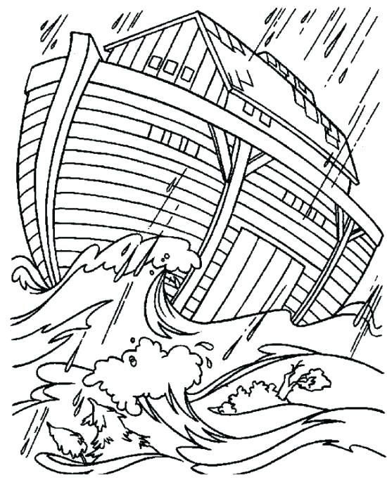 The Flood Noahs Ark Coloring Page