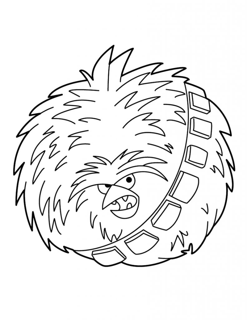 Angry Birds Star Wars Chewbacca 02 Coloring Page