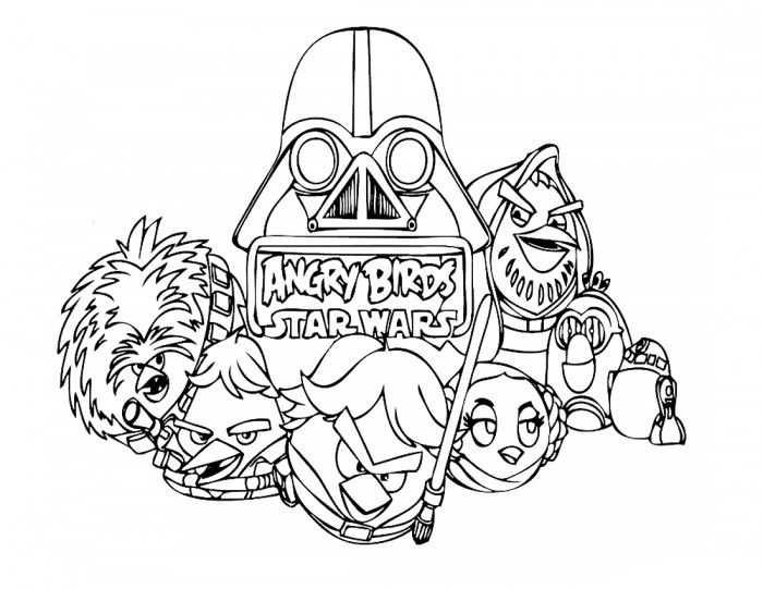 Angry Birds Star Wars Colroing Page