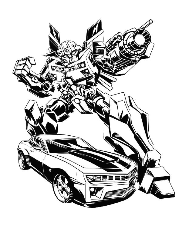 Awesome Bumblebee Coloring Page