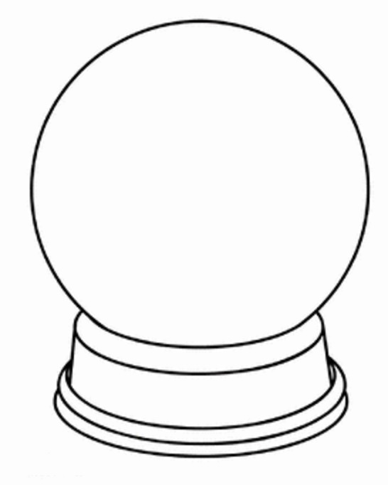 Blank Snowglobe Coloring Page