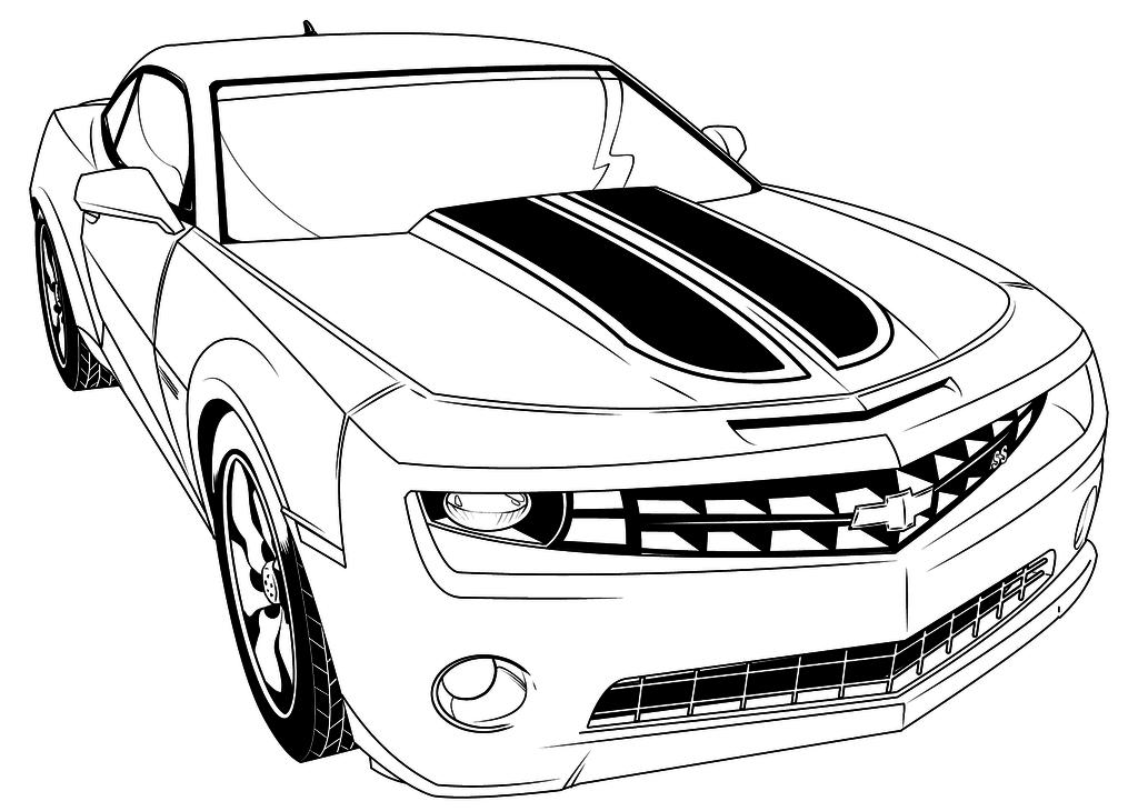 Bumblebee Car Transformers Coloring Pages